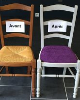 Modification de chaises en paille!